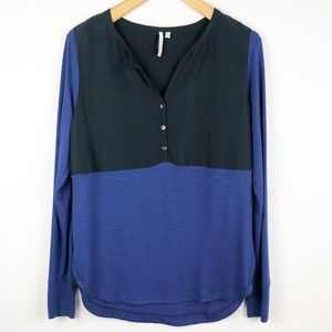 Calvin Klein Color Block Long Sleeve Shirt Medium